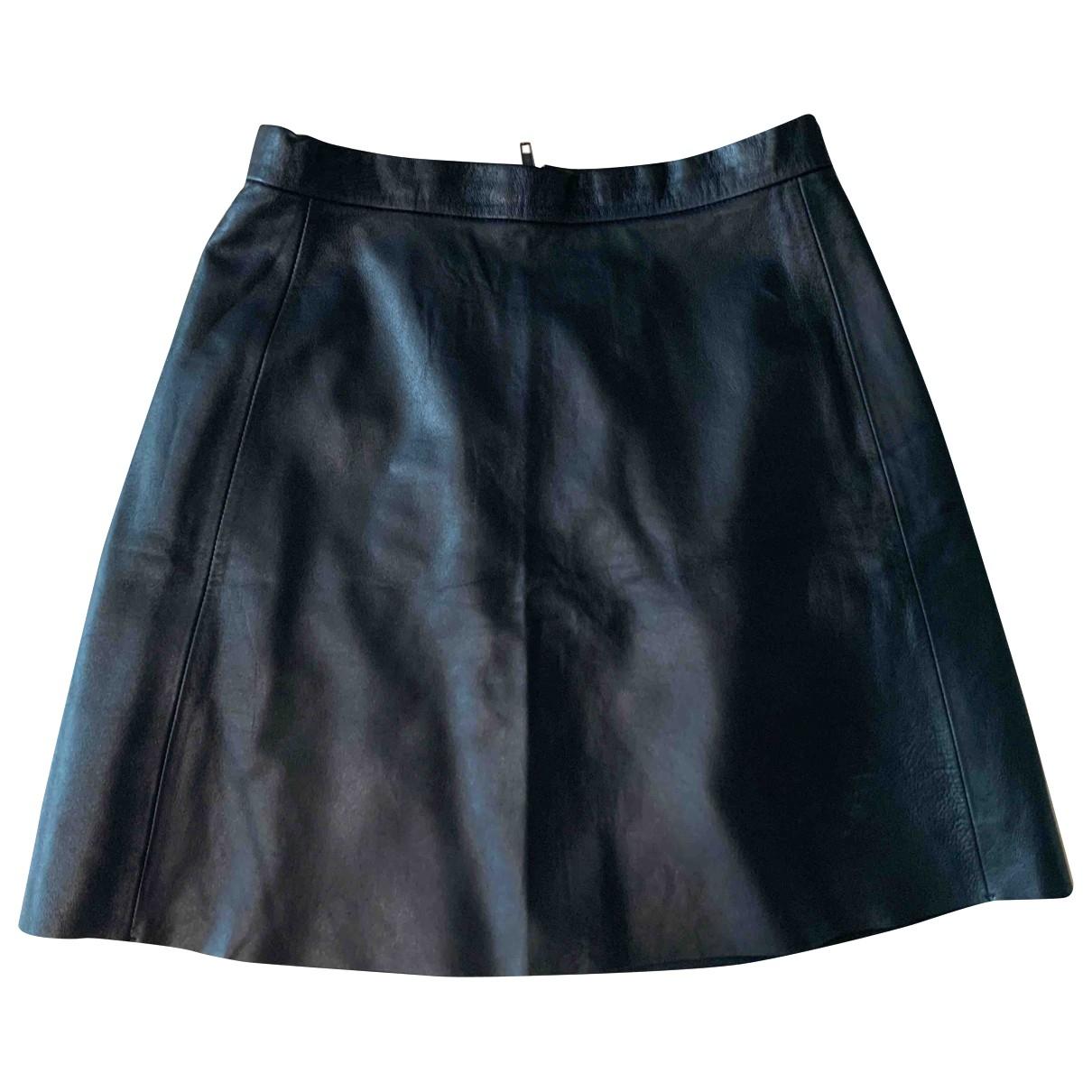 Muubaa - Jupe   pour femme en cuir - noir