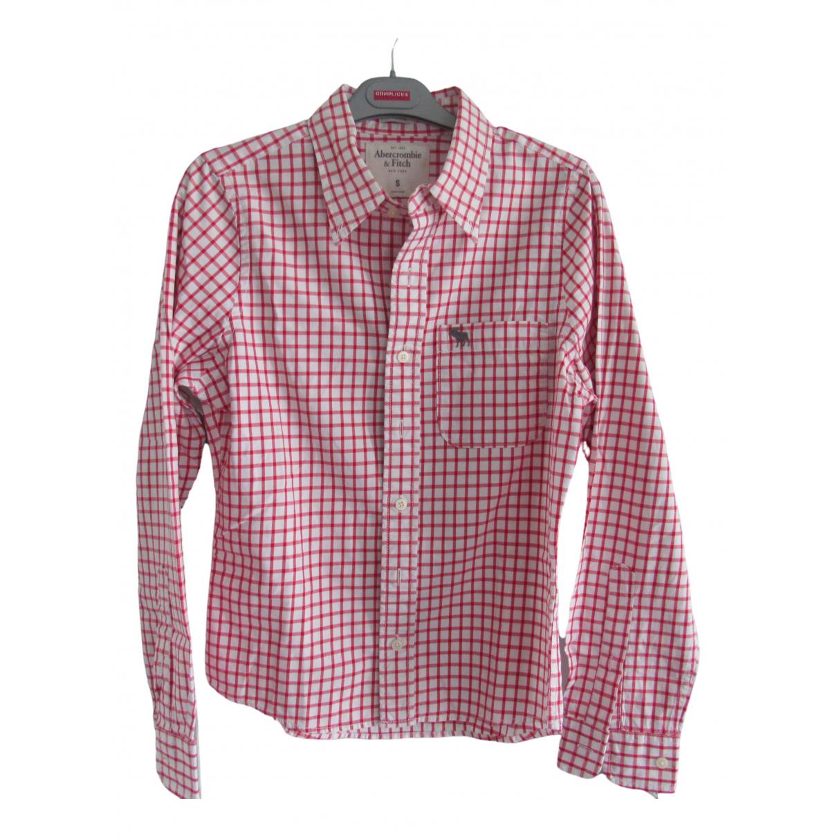 Abercrombie & Fitch - Chemises   pour homme en coton - rouge
