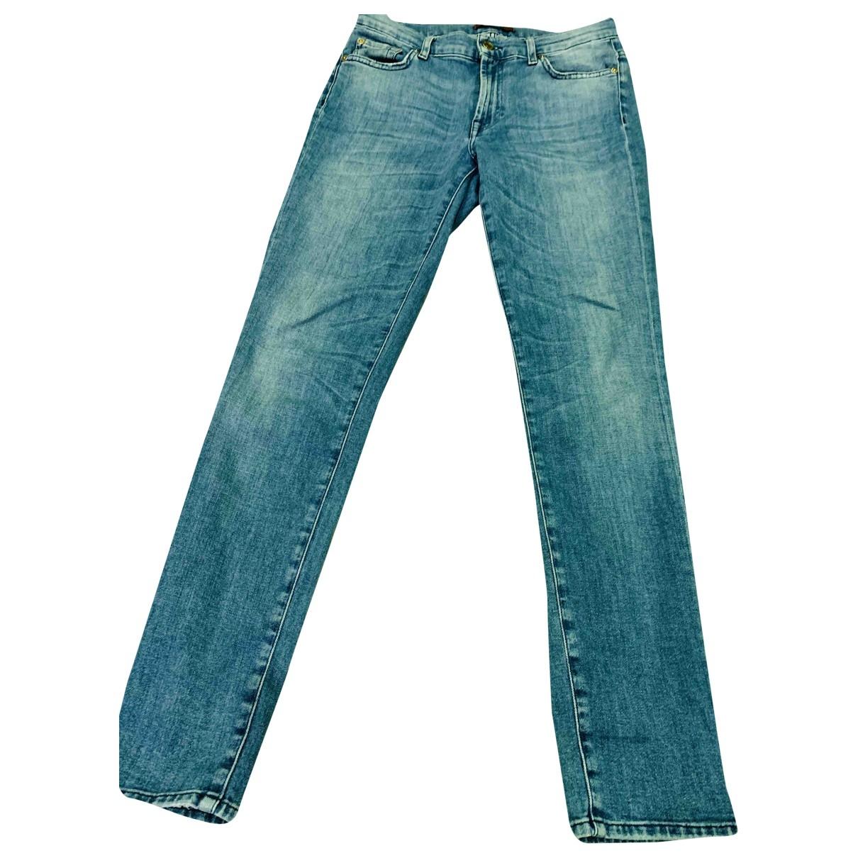 7 For All Mankind \N Blue Denim - Jeans Jeans for Women 36 FR