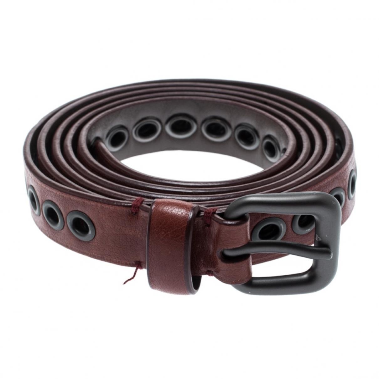 Bottega Veneta \N Red Leather belt for Women 95 cm