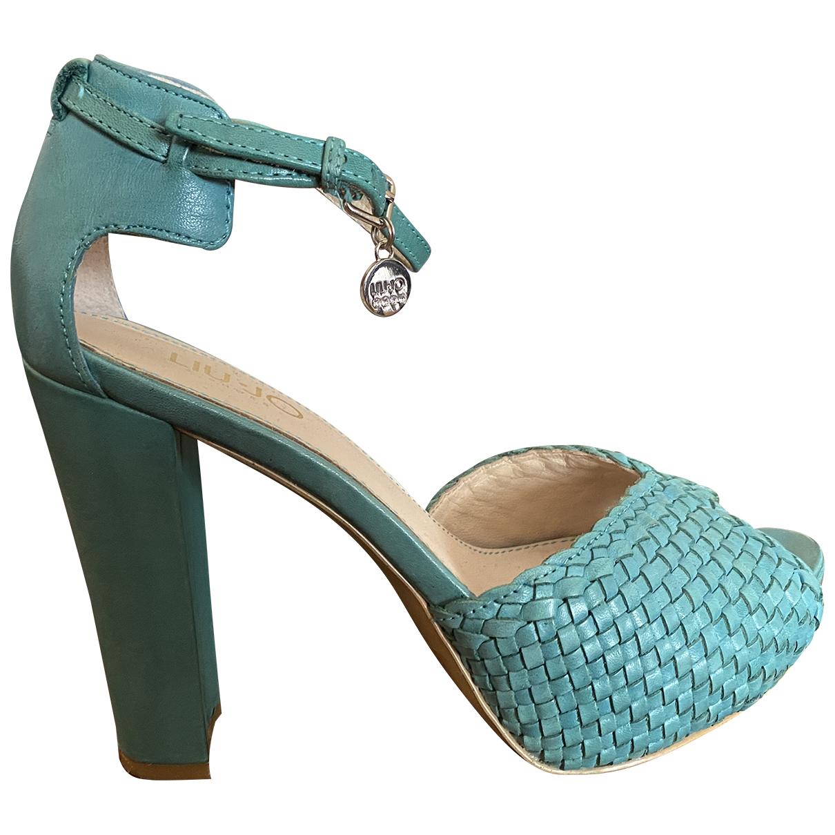 Liu.jo - Sandales   pour femme en cuir - turquoise