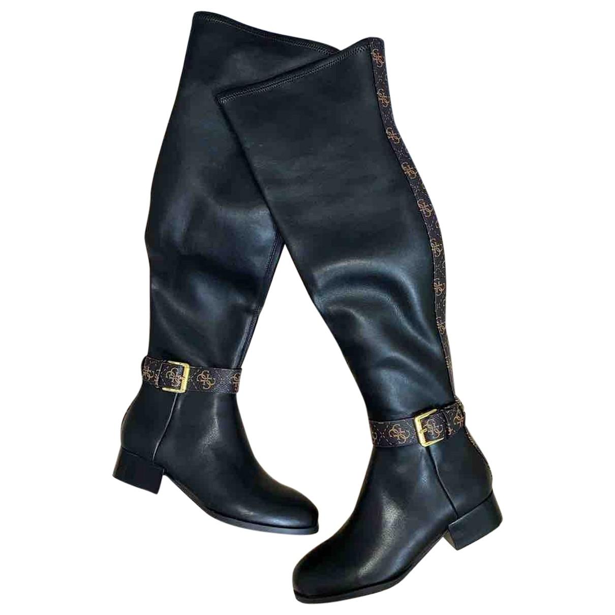Guess \N Stiefel in  Schwarz Kunststoff