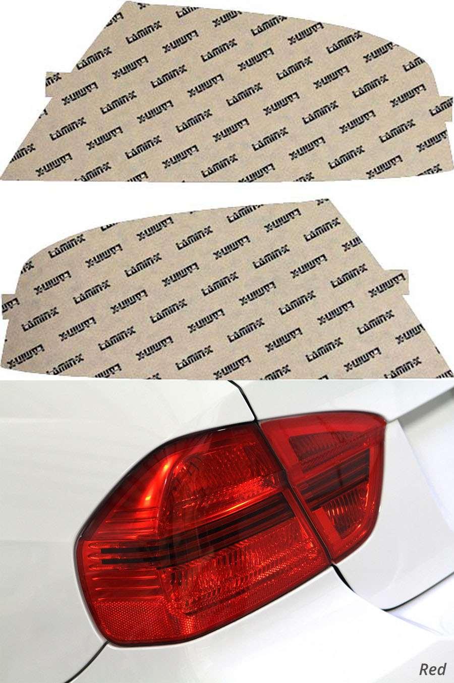 Mitsubishi EVO VIII 03-05 Red Tail Light Covers Lamin-X MT201R