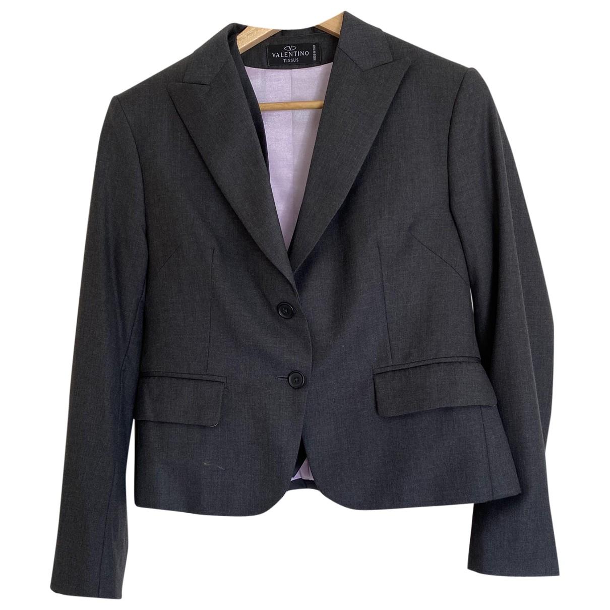 Valentino Garavani \N Grey Cotton jacket for Women 12 UK