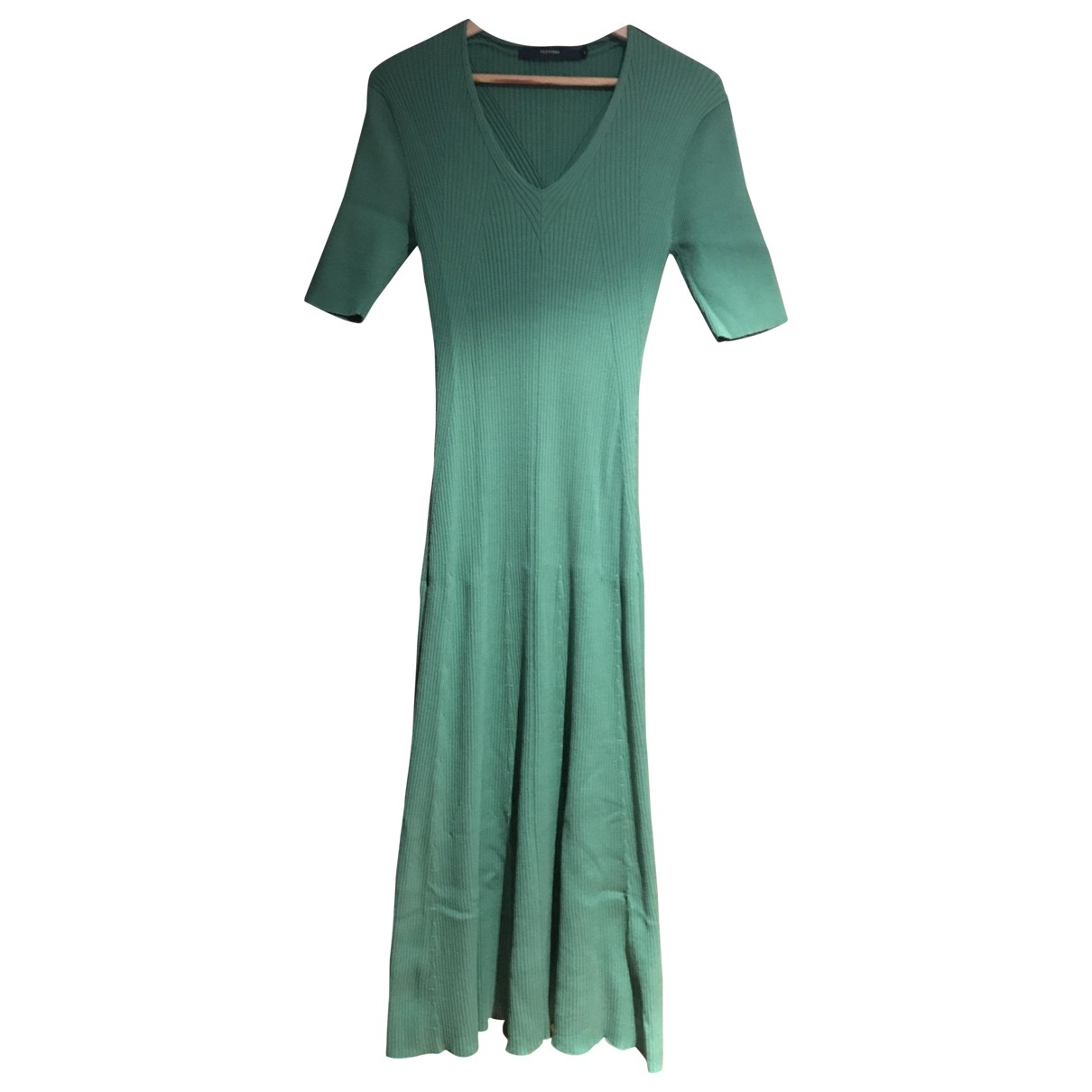 Non Signé / Unsigned \N Green Cotton dress for Women L International