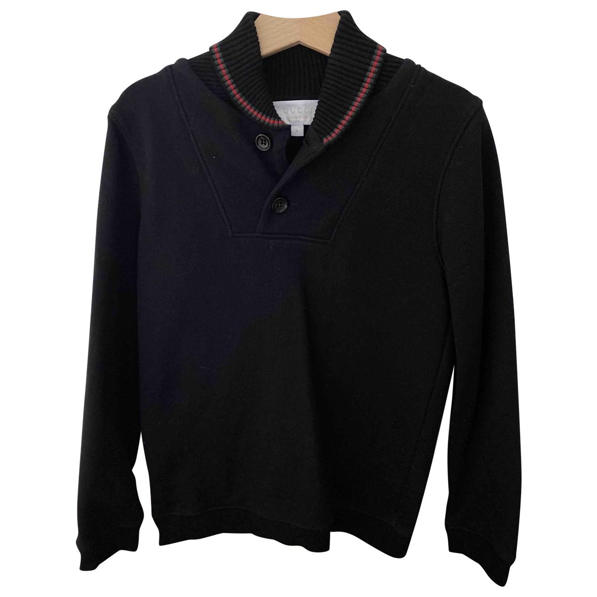 Gucci - Pull   pour enfant en coton - noir