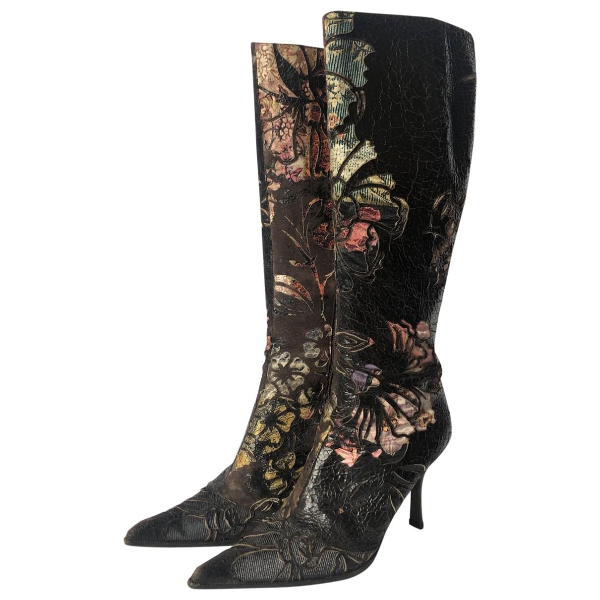 Dolce & Gabbana - Bottes   pour femme en cuir - multicolore