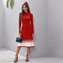 Vestidos de Punto Canale Monocolor Elegante