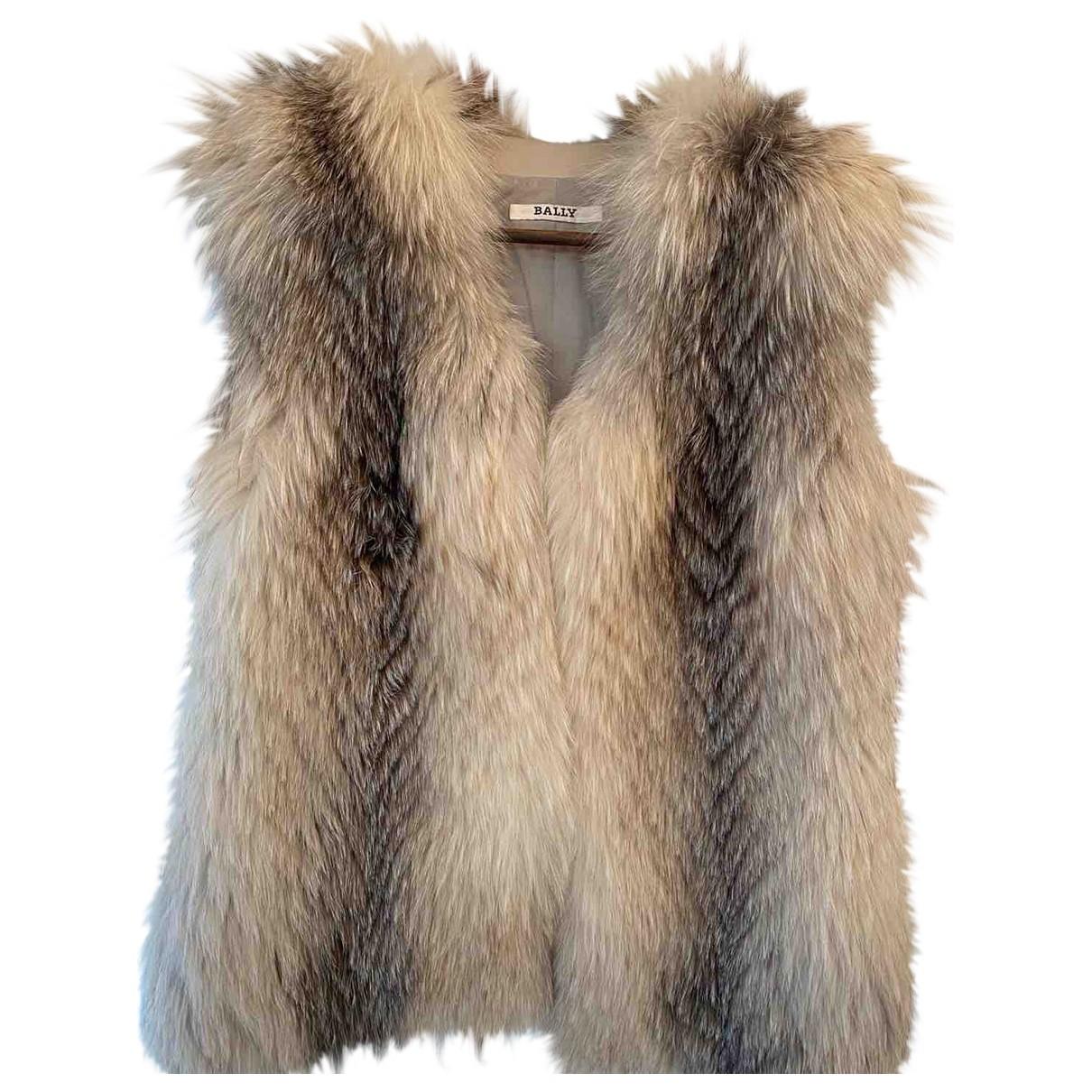 Bally \N Grey Fur jacket for Women 36 FR