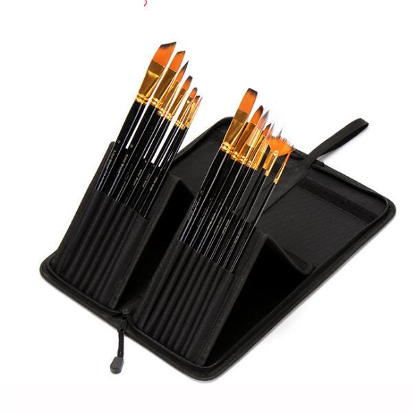Zhuting B1501 15 Practical Painting Set Nylon Portable Writing Brush Set Stationery Drawing Art Kit Study Supplies