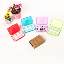 1pc 6 Grid Random Color Pill Box