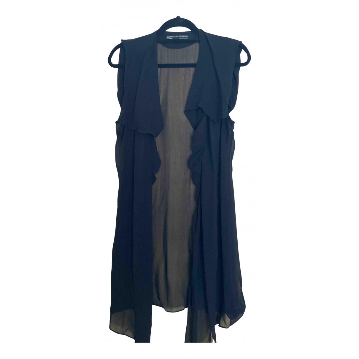 All Saints - Robe   pour femme en soie - noir