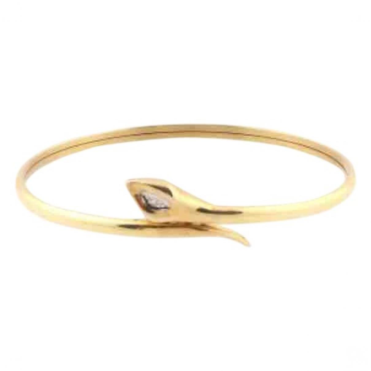 - Bracelet Motifs Animaliers pour femme en or jaune - dore