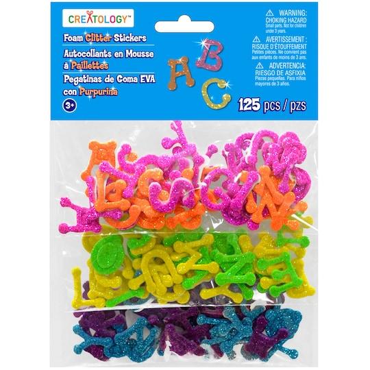 Creatology™ Foam Glitter Stickers, Alphabet | Michaels®