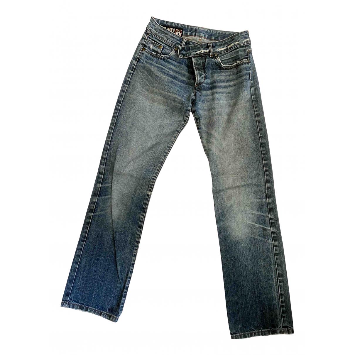 Jean Paul Gaultier \N Blue Cotton Jeans for Women 28 US