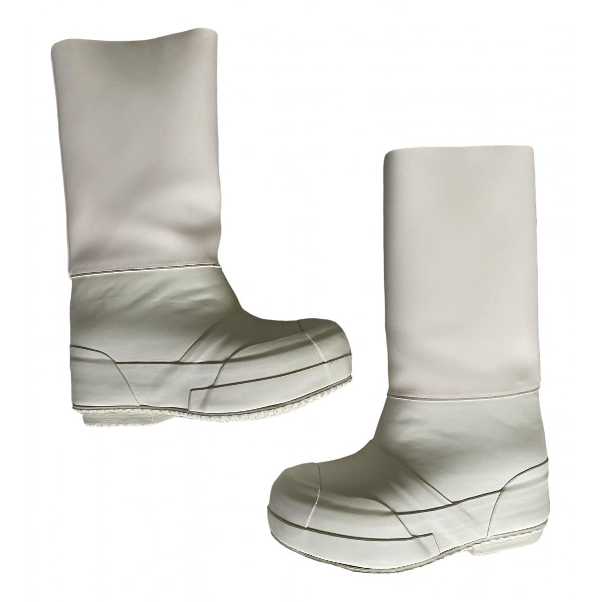 Celine Planet White Rubber Boots for Women 37 IT