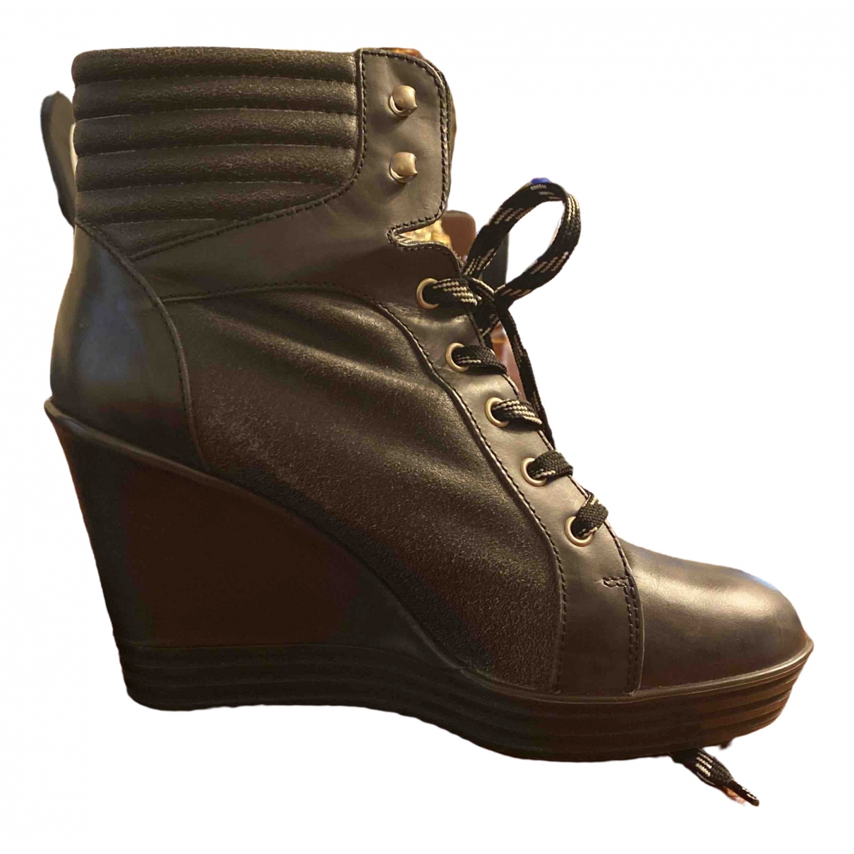 Hogan \N Stiefel in  Grau Leder
