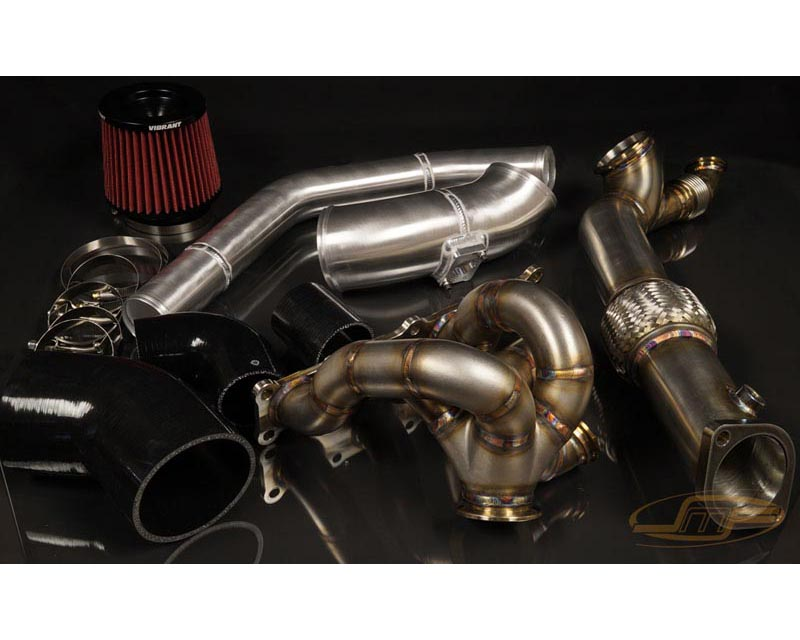 JM Fabrications EVOX-VBTRBOKIT-00-MVR-P EVO 10 Tial GT28/30/35 V-Band turbo hot and cold parts kit Recirculated with MVR wastegate flange polished pip