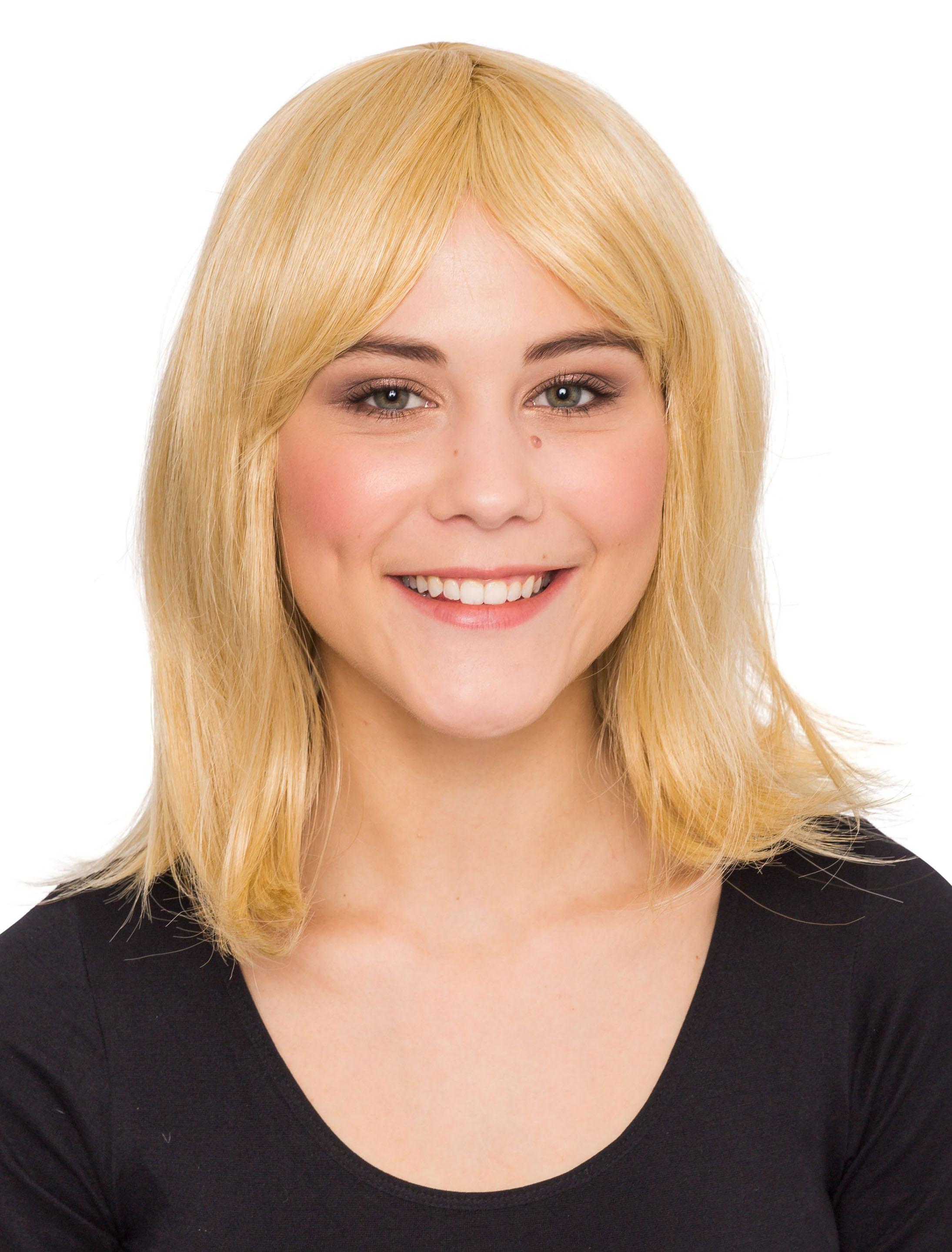 Kostuemzubehor Peruecke Vanessa schulterlang blond