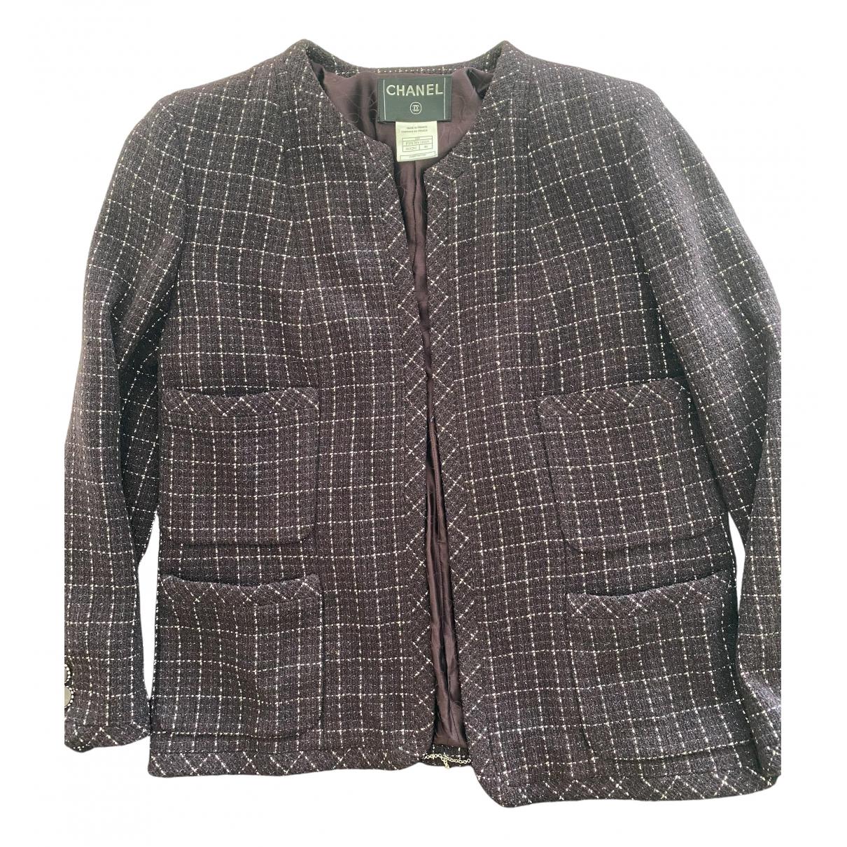 Chanel \N Purple Tweed jacket for Women 46 FR