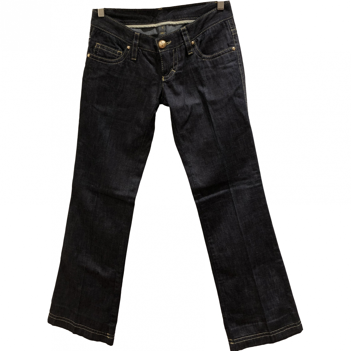Dsquared2 \N Blue Cotton Trousers for Women 40 IT