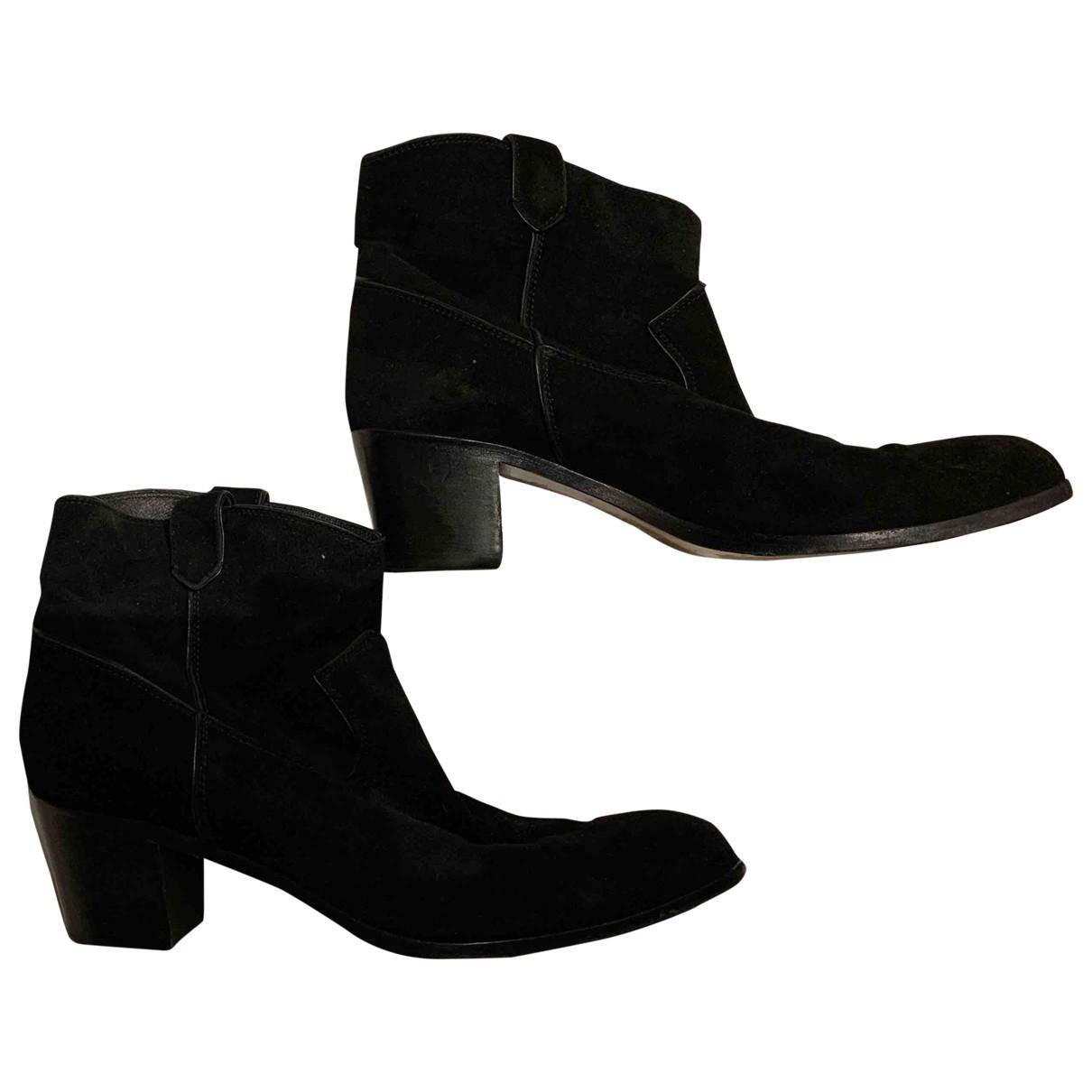 Gianvito Rossi - Boots   pour femme en suede - noir