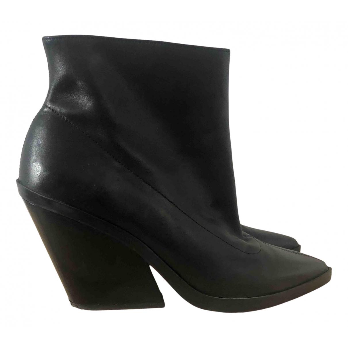 Zara \N Stiefeletten in  Schwarz Leder