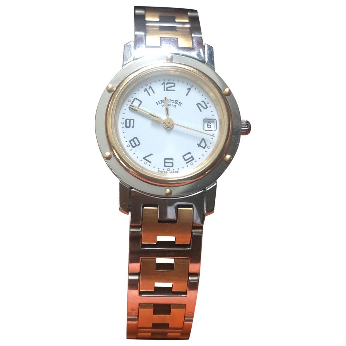 Hermes Clipper Uhr in Vergoldet
