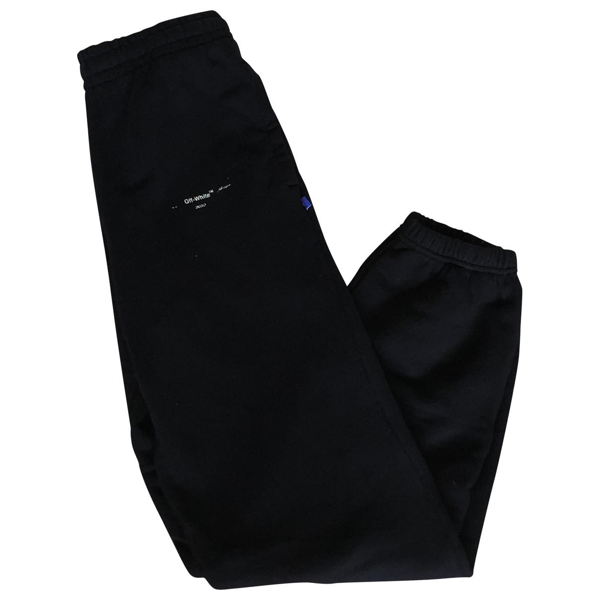 Off-white - Pantalon   pour homme en coton - noir