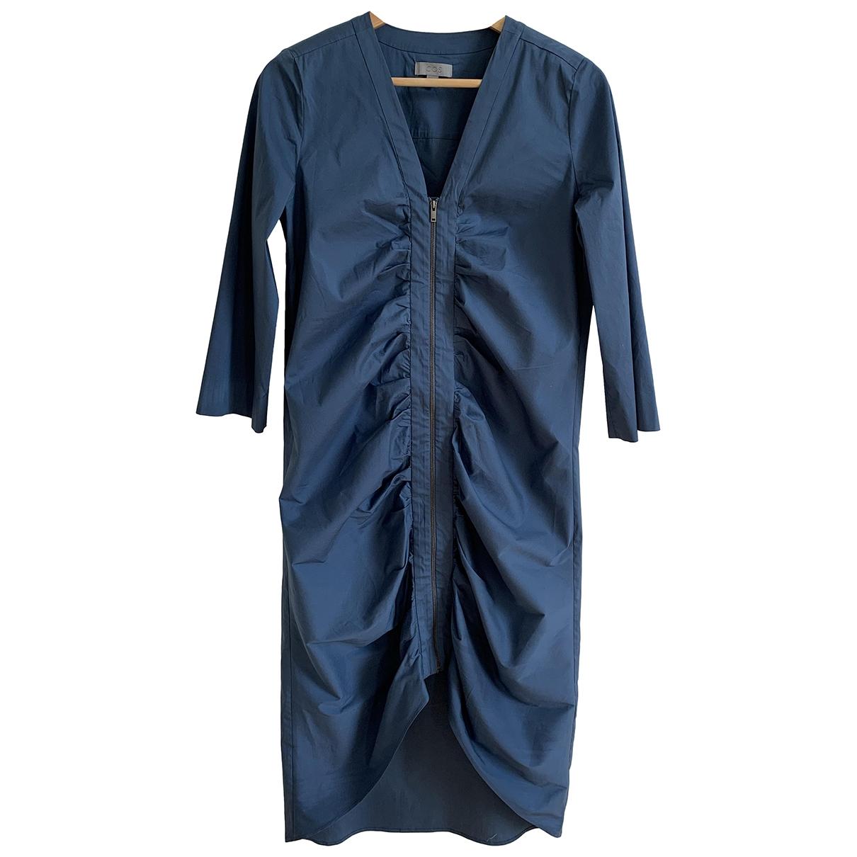 Cos \N Blue Cotton - elasthane dress for Women 36 FR