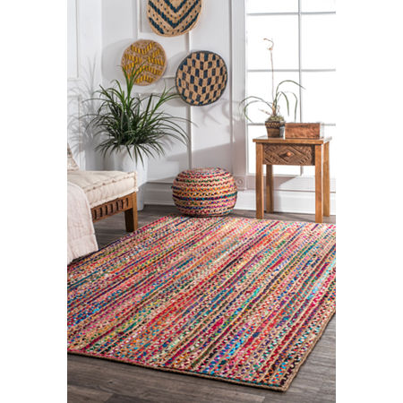 nuLoom Aleen Braided Cotton/ Jute Rug, One Size , Multiple Colors