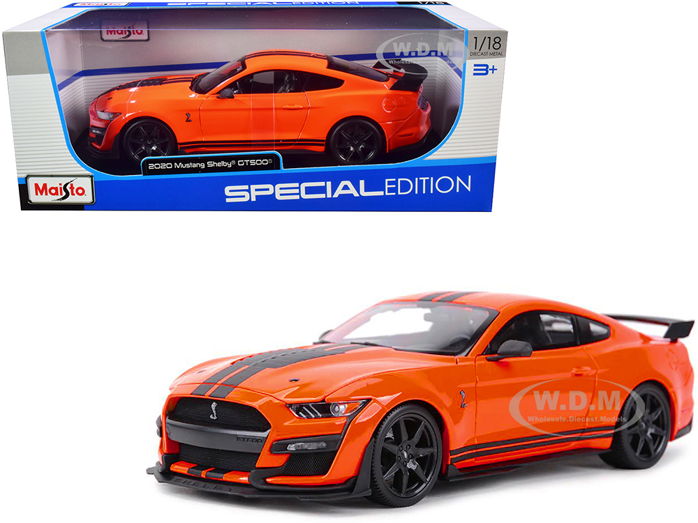 2020 Ford Mustang Shelby GT500 Orange with Black Stripes