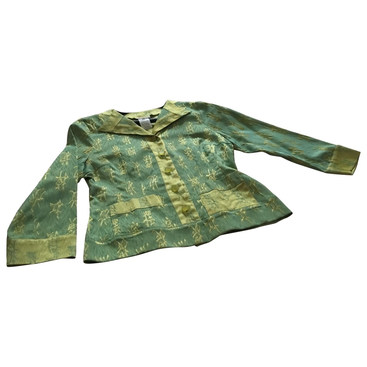 Non Signe / Unsigned \N Jacke in  Gruen Polyester