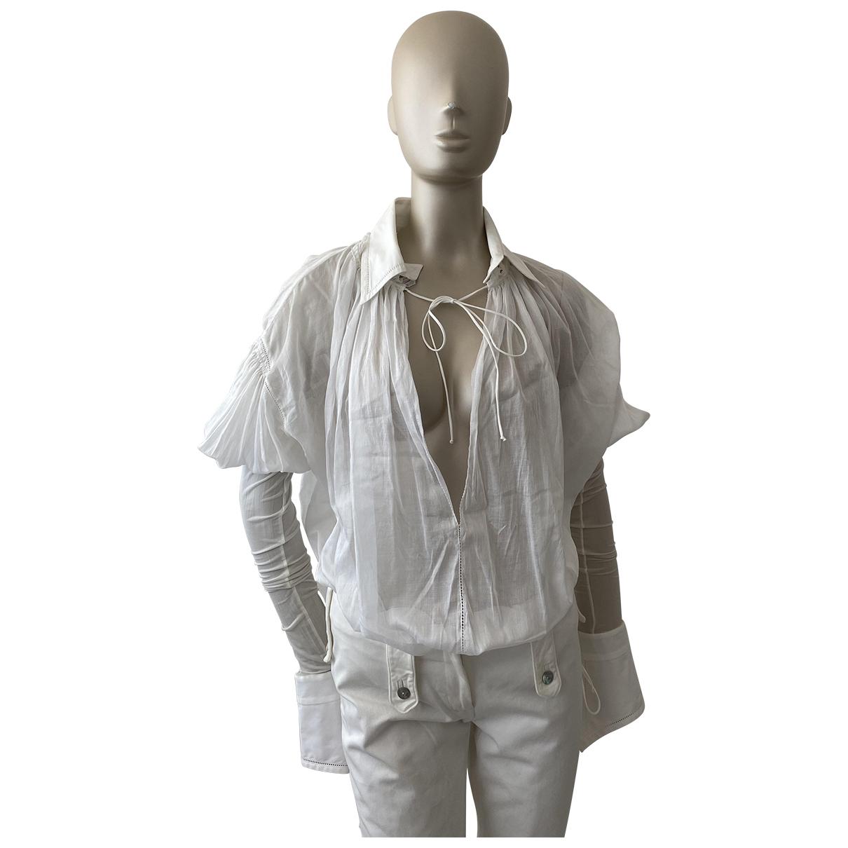 Gianfranco Ferré \N White Cotton  top for Women 42 IT