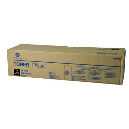 Konica Minolta TN314K A0D7131 Original Black Toner Cartridge