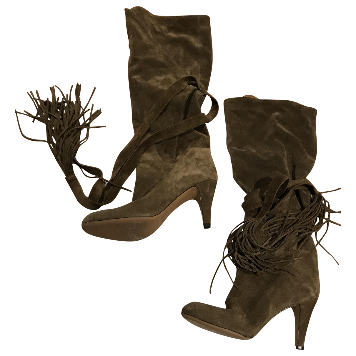 Chloé \N Brown Suede Boots for Women 40 EU