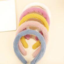 5pcs Fluffy Hair Hoop