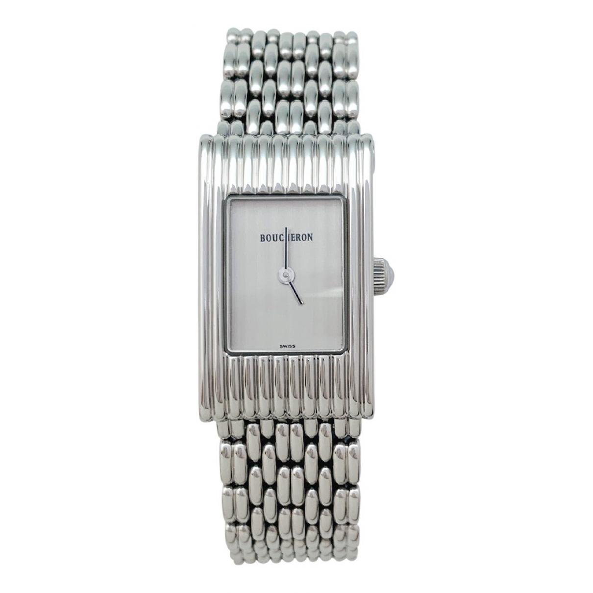 Boucheron Reflet Uhr in  Weiss Stahl