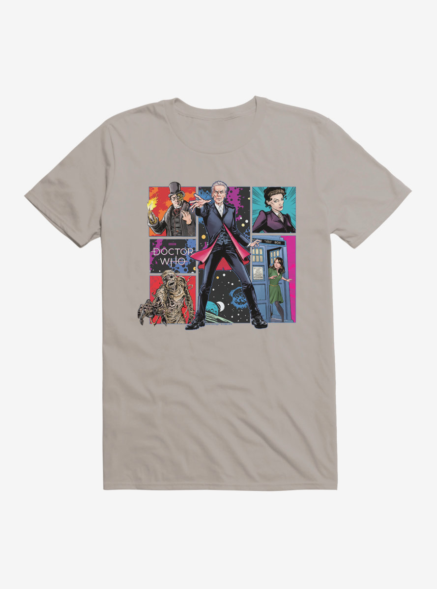 Doctor Who Twelfth Doctor Heroes And Villains T-Shirt