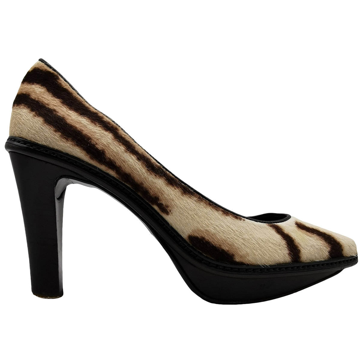 Celine N Beige Pony-style calfskin Heels for Women 36.5 EU