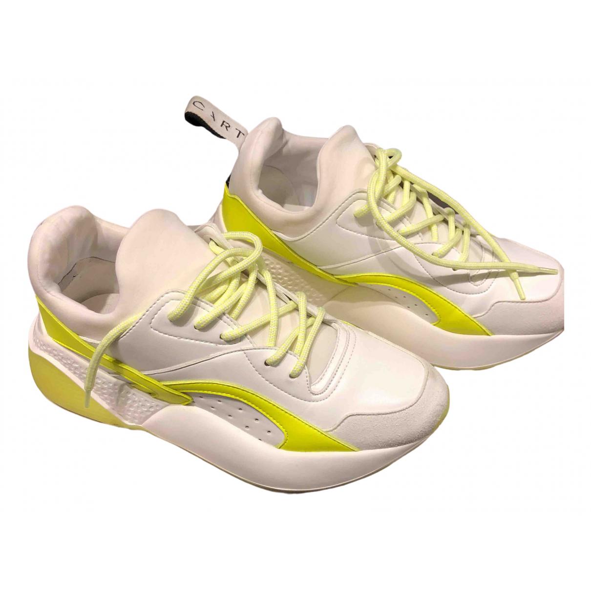 Stella Mccartney Eclypse Sneakers in  Weiss Leder