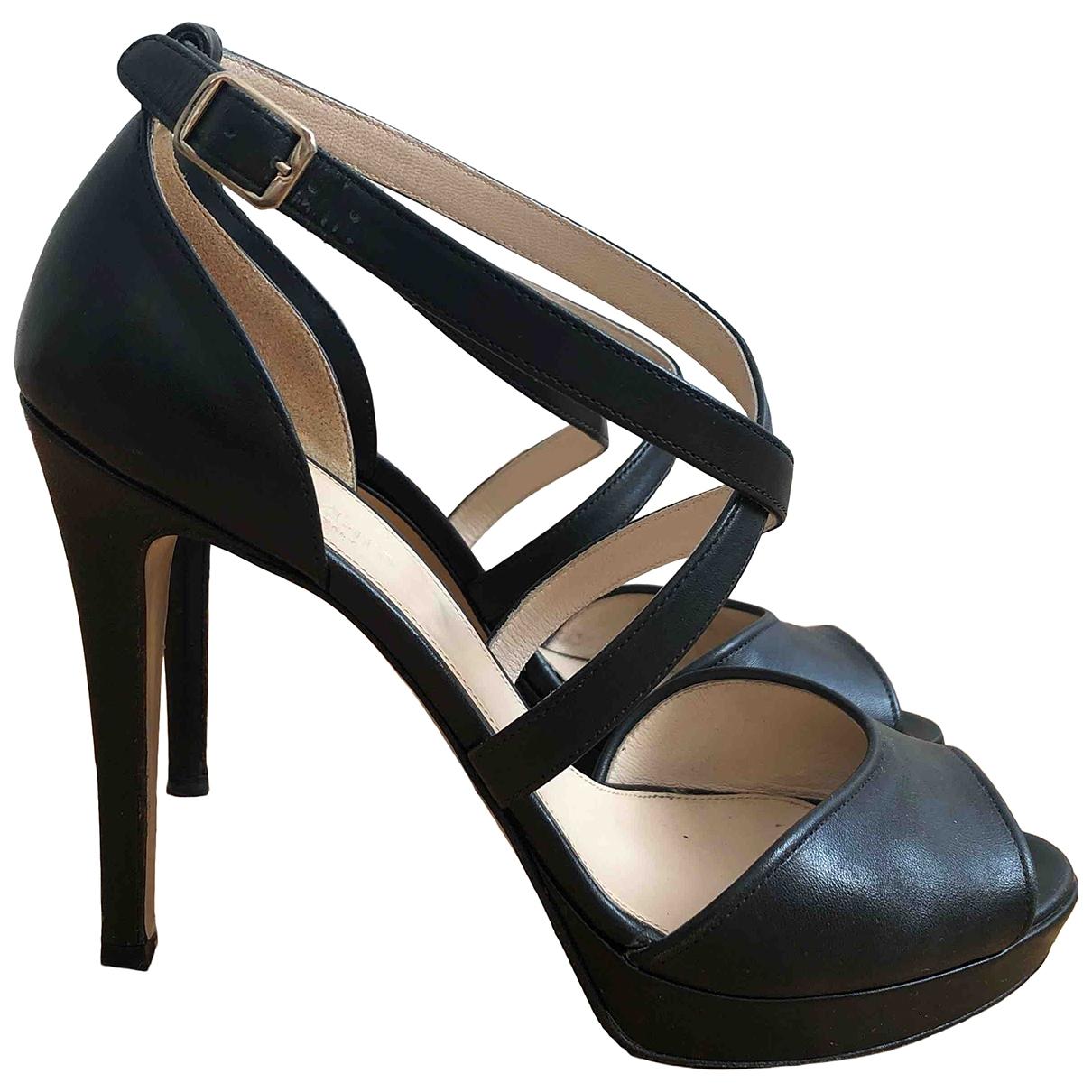 Max Mara \N Black Leather Sandals for Women 40 EU