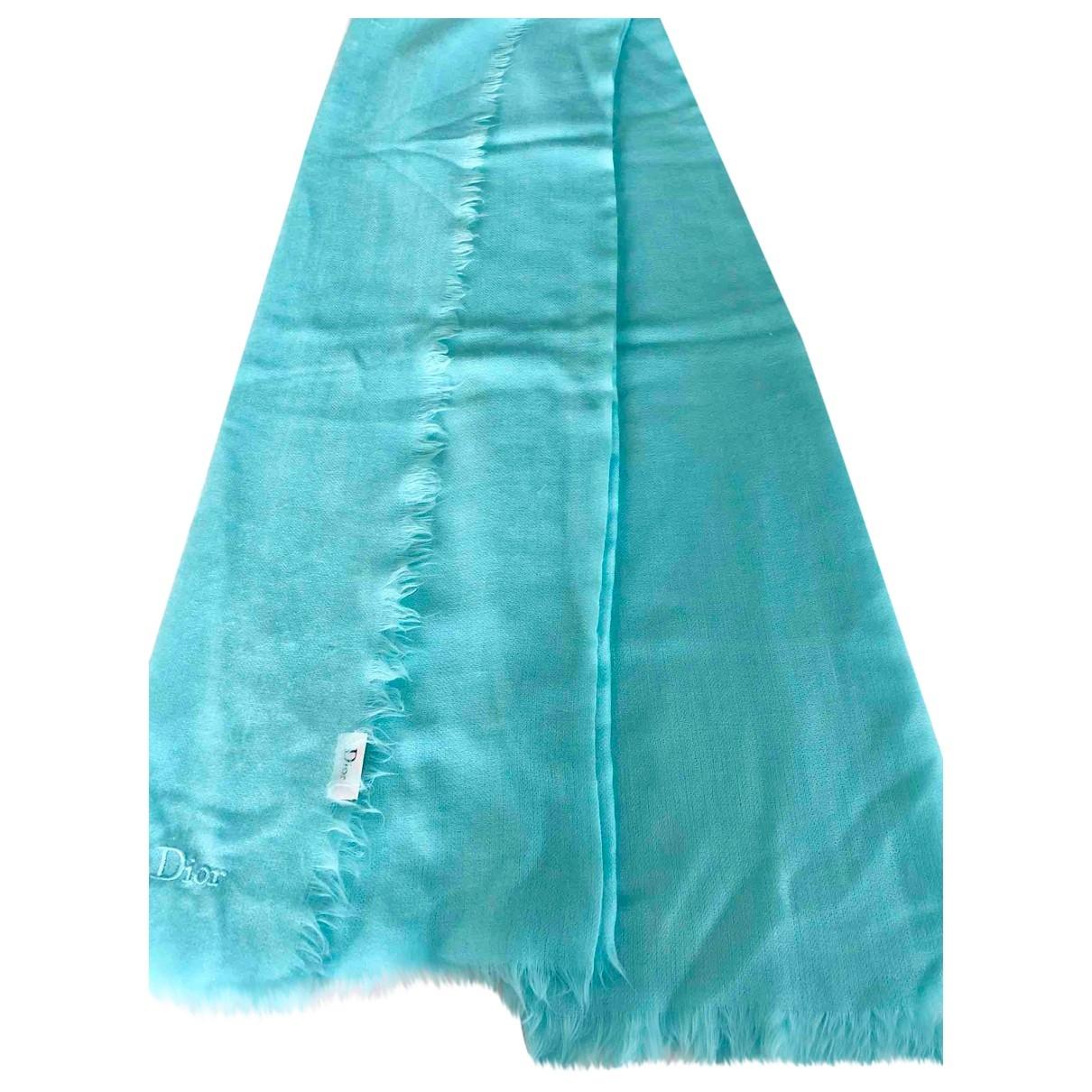 Dior - Foulard   pour femme en laine - turquoise