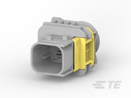TE Connectivity , HDSCS Automotive Connector Socket 2 Row 4 Way, IP67, IP6K9K, Grey (380)