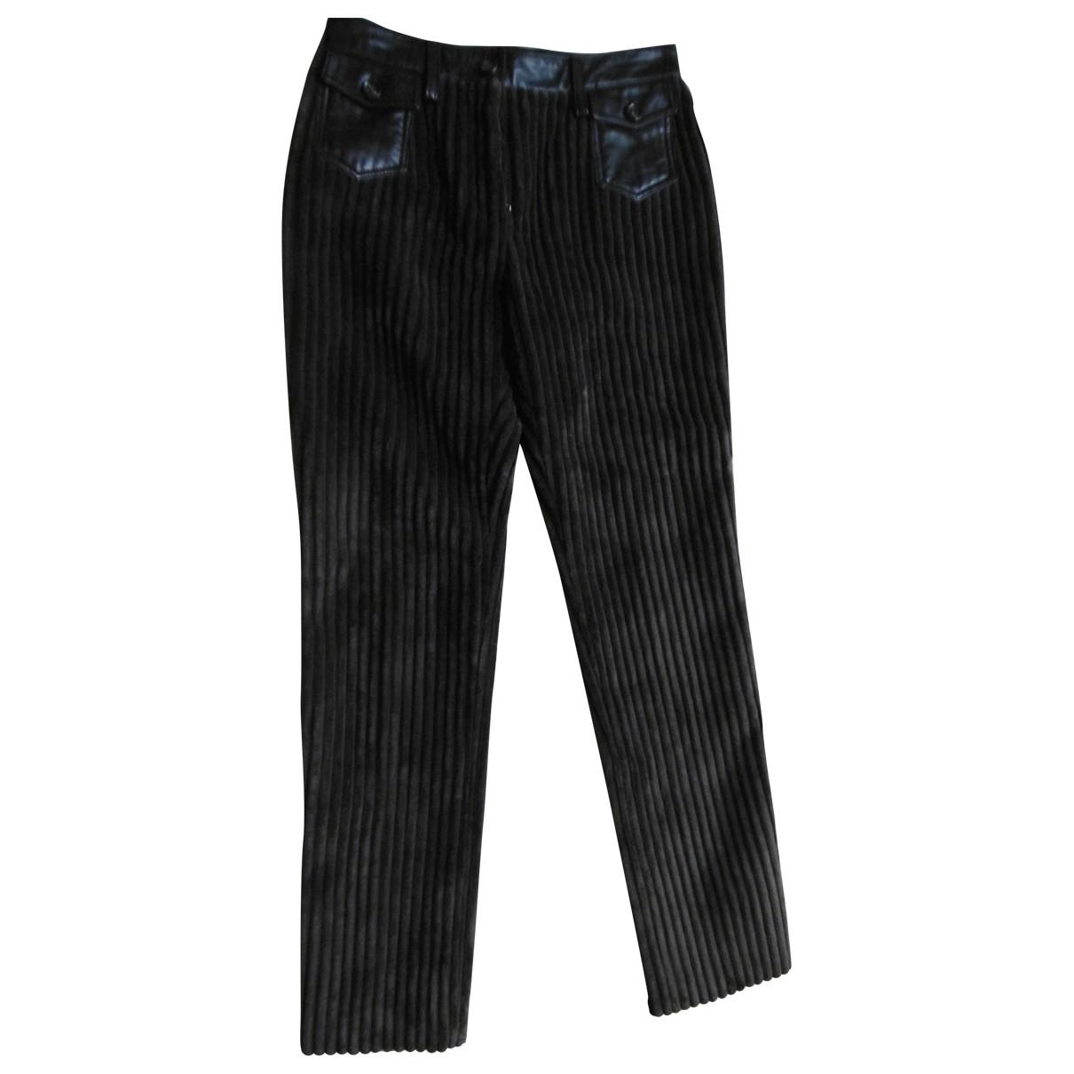 Pantalon recto de Terciopelo Dolce & Gabbana