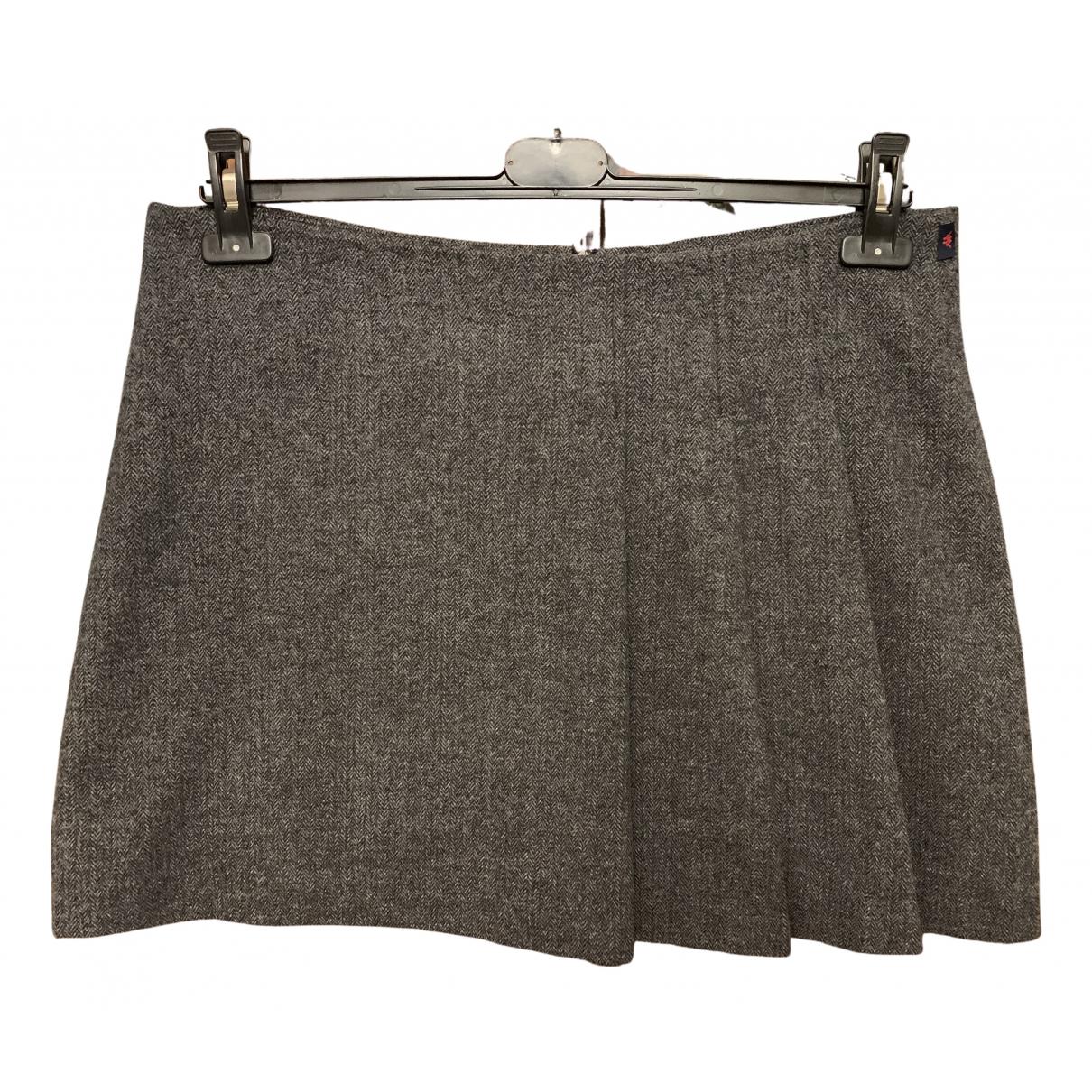 Kappa - Jupe   pour femme en laine - anthracite