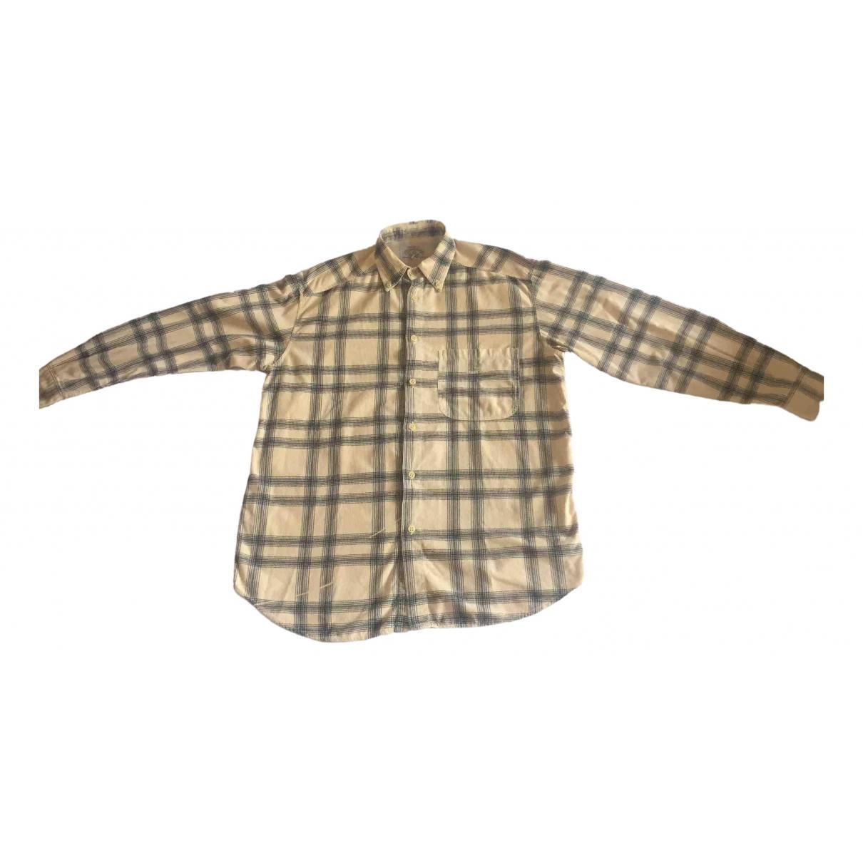 Armani Jeans N Beige Velvet Shirts for Men M International