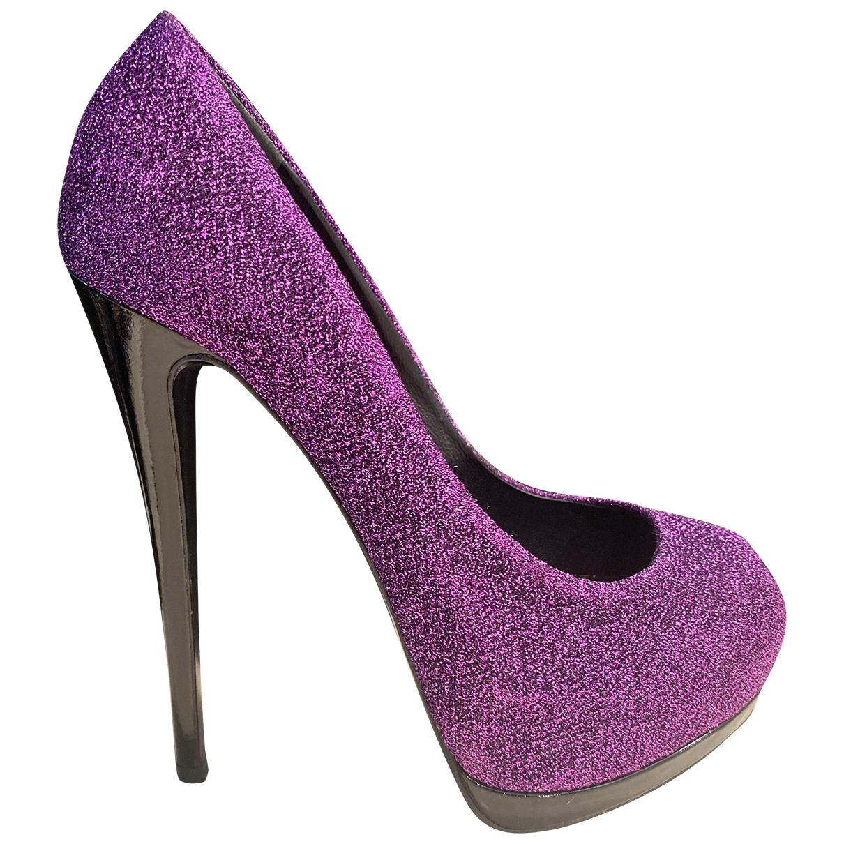 Giuseppe Zanotti - Escarpins   pour femme en a paillettes - violet