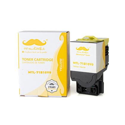 Lexmark 71B10Y0 cartouche de toner compatible jaune - Moustache®