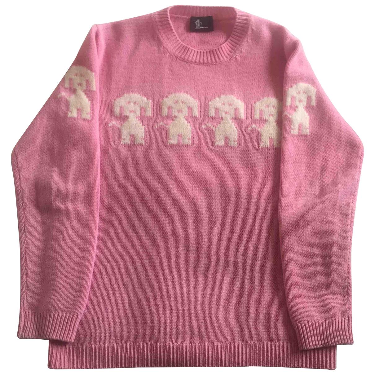 Moncler - Pull   pour femme en laine - rose
